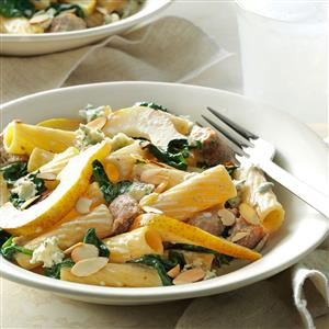 Pear & Turkey Sausage Rigatoni Recipe