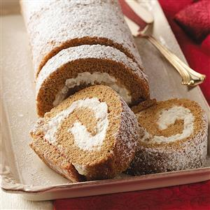 Pear Gingerbread Cake Roll Recipe