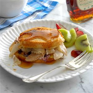 Pear-Stuffed French Toast with Brie, Cranberries & Pecans Recipe