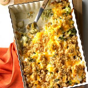 Pearl Onion Broccoli Bake Recipe