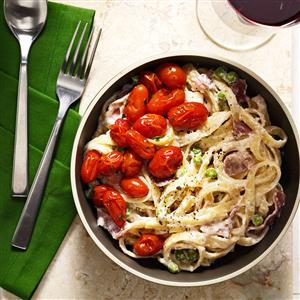 Peas & Pasta Carbonara Recipe
