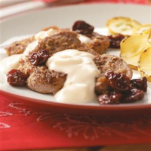 Pecan Pork Medallions with Cambozola Cream Recipe