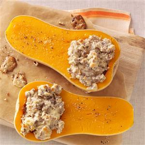 Pecan-Stuffed Butternut Squash Recipe