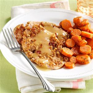 Pecan Turkey Cutlets with Dilled Carrots Recipe