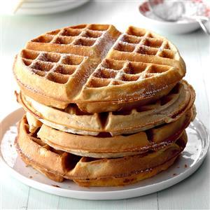 Pecan Wheat Waffles Recipe