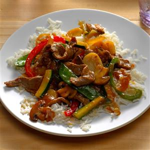 Pepper Steak with Squash Recipe