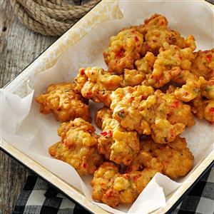 Peppered Corn Fritters Recipe