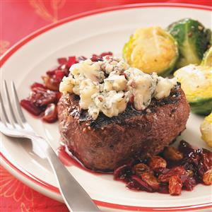 Peppered Filets with Cherry Port Sauce for 2 Recipe