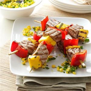 Peppered Tuna Kabobs Recipe
