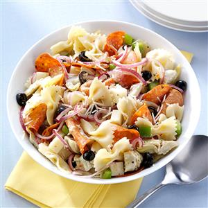 Pepperoni-Artichoke Pasta Salad Recipe