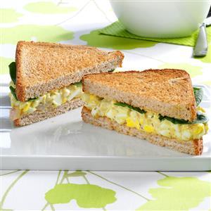 Pesto Egg Salad Sandwiches Recipe