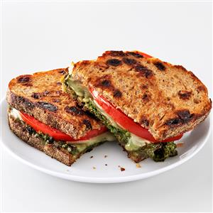 Pesto Grilled Cheese Sandwiches Recipe