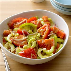 Pesto Tomato-Cucumber Salad Recipe