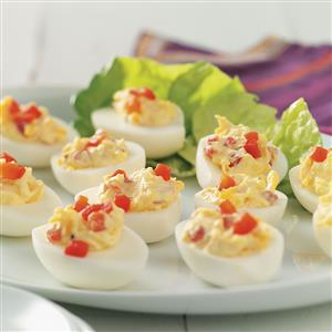 Pimiento & Cheese Deviled Eggs Recipe