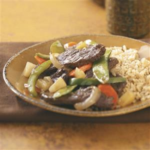 Pineapple Beef Stir-Fry for Two Recipe