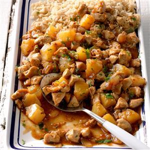 Pineapple-Ginger Chicken Stir-Fry Recipe