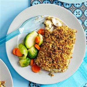 Pistachio-Crusted Fish Fillets Recipe