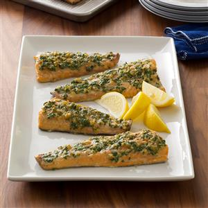Plank-Grilled Ginger-Herb Trout Recipe