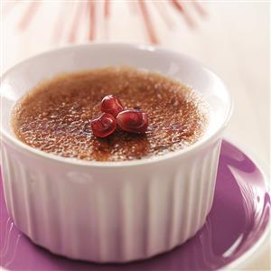Pomegranate Creme Brulee Recipe