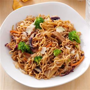Pork & Ramen Stir-Fry Recipe