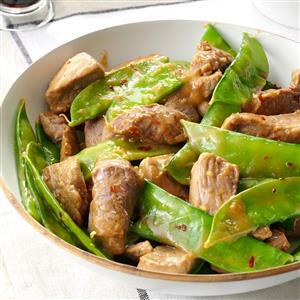 Pork 'n' Pea Pod Stir-Fry Recipe