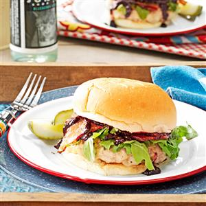Pork Burgers with Sassy Barbecue Sauce Recipe