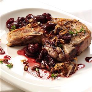 Pork Chops with Cherry Sauce Recipe