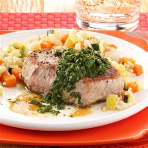 Pork Chops with Chimichurri Recipe