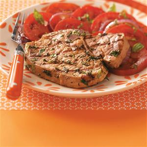 Pork Chops with Herb Pesto Recipe