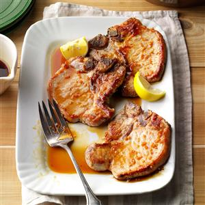 Pork Chops with Honey-Garlic Sauce Recipe