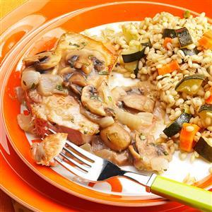 Pork Chops with Mushroom-Tarragon Sauce Recipe