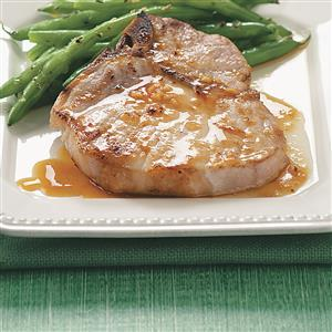 Pork Chops with Orange Sauce for Two Recipe