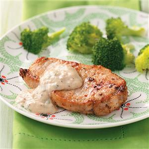 Pork Chops with Parmesan Sauce Recipe