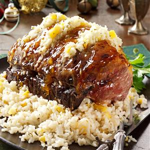 Pork Roast with Apricot-Rice Stuffing Recipe