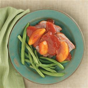 Pork Roast with Peach Sauce Recipe