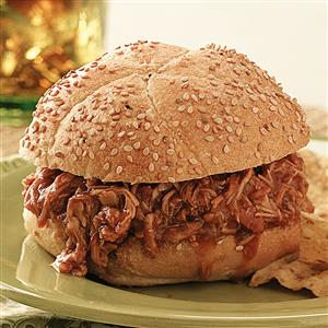 Pork Sandwiches with Root Beer Barbecue Sauce Recipe