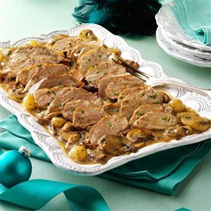Pork Tenderloin with Marsala Mushroom Sauce Recipe