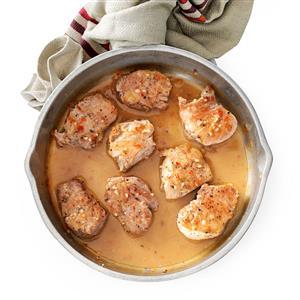 Pork Tenderloin with Zesty Italian Sauce Recipe