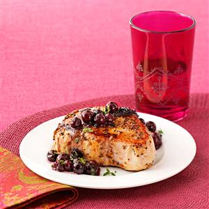 Pork with Blueberry Herb Sauce Recipe