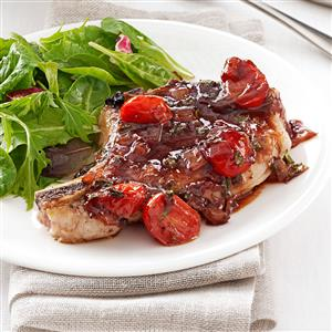 Pork with Strawberry-Port Sauce Recipe