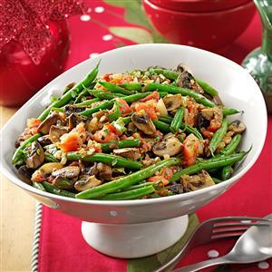 Portobello & Green Bean Saute Recipe