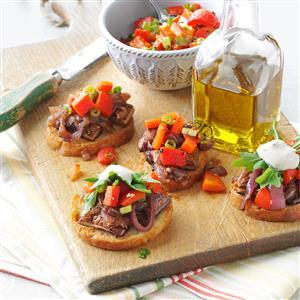 Portobello Bruschetta with Rosemary Aioli Recipe