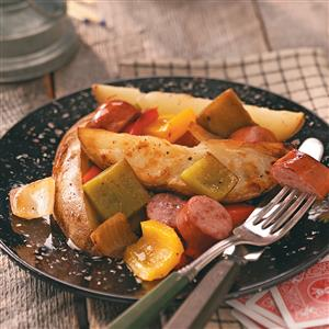 Potato-Sausage Foil Packs for Two Recipe