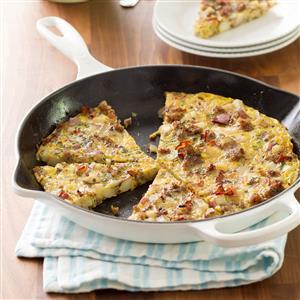Potato Sausage Frittata Recipe