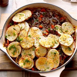 Potato-Topped Ground Beef Skillet Recipe