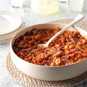 Pressure Cooker BBQ Baked Beans Recipe