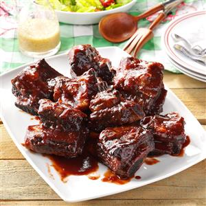 Pressure Cooker Barbecued Beef Ribs Recipe