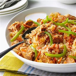 Pressure Cooker Cajun Pork and Rice Recipe