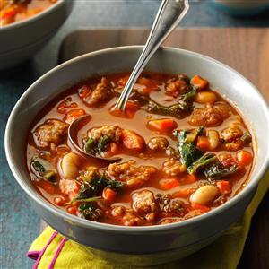 Pressure Cooker Italian Sausage & Kale Soup Recipe