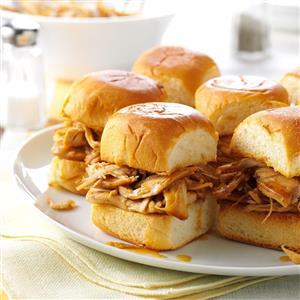 Pressure Cooker Mini Teriyaki Turkey Sandwiches Recipe